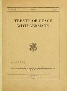 treaty of versailles essays