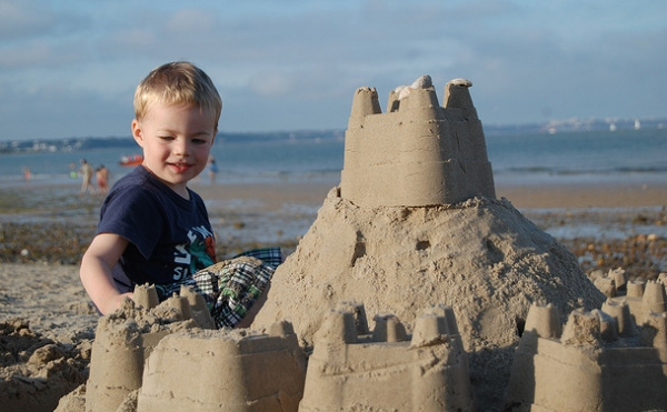 how to make sand castle on the beach