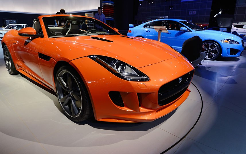 2014 Jaguar F-Type V8s (left) and XFR-S saloon