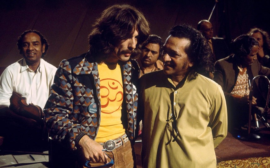 George Harrison with Ravi Shankar in the 1970s