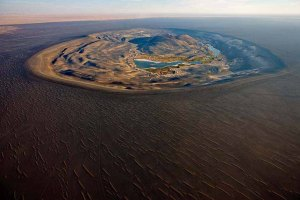 Libya, Volcanic crater of Wau al Namus, (Wau means hole, so Wau al Namus is hole of mosquitoes